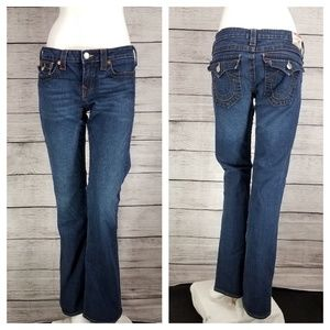 True Religion Becky Bootcut Jeans Flap pocket 32